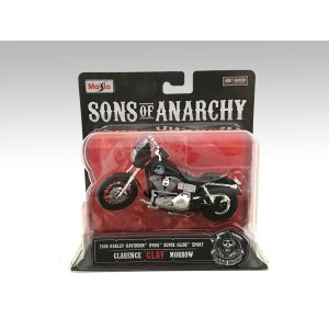 "1:18 Harley Davidson 2008 Dyna Super Glide Sport Feature SOA Clarence ""Clay"" Morrow"