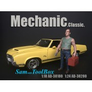 AD-38280 1:24 Mechanic Classic - Sam with Tool Box