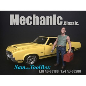 AD-38180 1:18 Mechanic Classic - Sam with Tool Box