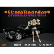 AD-38340 1:24 Skateboarder - Figure I