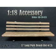 """AD-38435 1:18 Park Bench 5"""" Long (Set of 2)"""