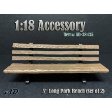 "AD-38435 1:18 Park Bench 5"" Long (Set of 2)"