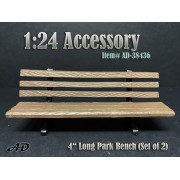"""AD-38436 1:24 Park Bench 4"""" Long (Set of 2)"""
