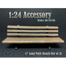 "AD-38436 1:24 Park Bench 4"" Long (Set of 2)"