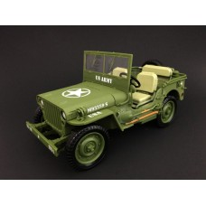 1:18 Die Cast Army Jeep Vehicle - US Army (Green)