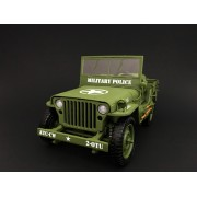 1:18 Die Cast Army Jeep Vehicle - Military Police (Green)
