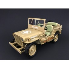 1:18 Die Cast Army Jeep Vehicle - US Army (Desert color)