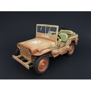 1:18 Weathered Die Cast Army Jeep Vehicle - US Army (Desert color)