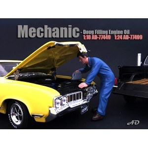 AD-77499 Mechanic - Doug Filling Engine Oil