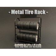 AD-77518 Accessory - 1:18 Scale Metal Tire Rack