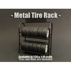 AD-77530 Accessory - 1:24 Scale Metal Tire Rack
