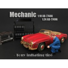 AD-77496 Mechanic - Tony inflating tire