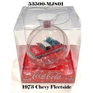 53500-MJS01 1:64 1973 Chevy Fleetside Coca-Cola Theme X'Mas Ornament