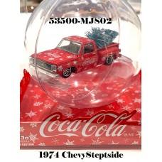 53500-MJS02 1:64 1974 Chevy Stepside Coca-Cola Theme X'Mas Ornament