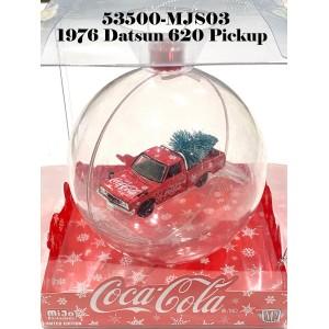 53500-MJS03 1:64 1976 Datsun 620 Pickup Coca-Cola Theme Christmas Ornament