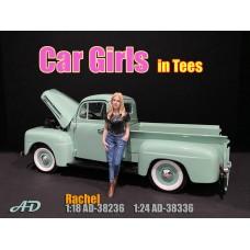AD-38336 1:24 Car Girl in Tee - Rachel