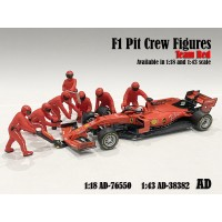 AD-38382 1:43 F1 Pit Crew Figure - Set Team Red