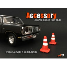 AD-77532 Accessory - 1:24 Scale Traffic Cones (Set of 4)