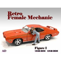 AD-38344 1:24 Retro Female Mechanic - I