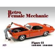 AD-38345 1:24 Retro Female Mechanic - II