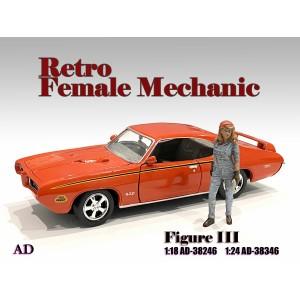 AD-38346 1:24 Retro Female Mechanic - III