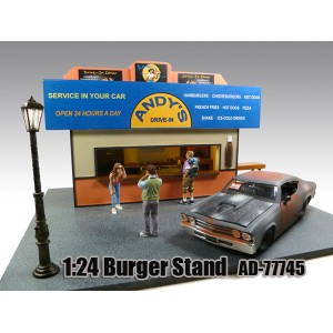 AD-77745 1:24 Scale Burger Stand Diorama