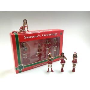 AD-23847 Christmas Girls (Set of 4)