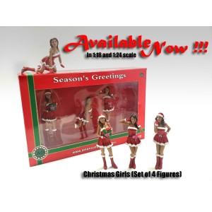 AD-23848 Christmas Girls (Set of 4)