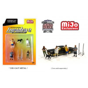 AD-76461MJ 1:64 Limited Edition Die Cast Figure Set - Lowriders 2