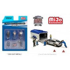AD-76464MJ 1:64 Limited Edition Die Cast Figure Set - Auto Transport Crew