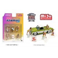 AD-76465MJ 1:64 Limited Edition Die Cast Figure Set - Bikini Car Wash Girls