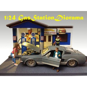 AD-77729 1:24 Scale Gas Station Diorama