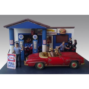 AD-77739 1:18 Gas Station Diorama